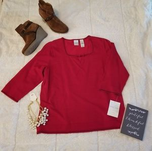 NWT Emma James red sweater